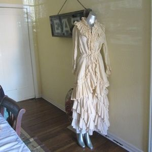 Cordelia Long Jacket Matching Ruffled Skirt Large